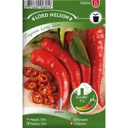 Chilipeppar 'Cayenne Long Slim' frö 1-pack (Slut för året)